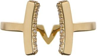 Vamp London Attitude 14ct Yellow Gold Plated Sterling Silver Cuff Ring - Size Q ATR035-YG-C-SIZEQ