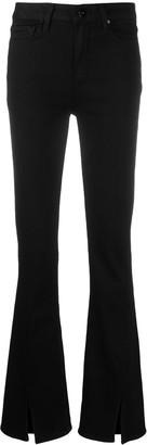 Paige Split-Hem Flared Jeans