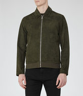 Reiss Holt Suede Collared Jacket