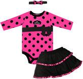 Baby Essentials Baby Set, Baby Girls 3 Piece Bodysuit Set