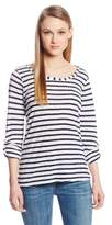 Splendid Women's Navy Classic Venice Stripe Long Sleeve Top,(Manufacturer Size:X-Small)