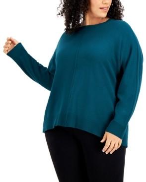 Alfani High-Low Dolman-Sleeve Sweater, Created for Macy's