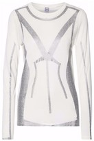 Herve Leger Metallic Printed Modal Top