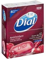 Dial AntiOxidant Power Berries Glycerin Soap Bars, Pack of 8