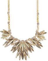 Givenchy Gold-Tone Crystal and Stone Marquise Statement Necklace