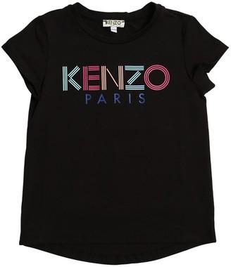 Kenzo Logo Print Cotton Jersey T-shirt