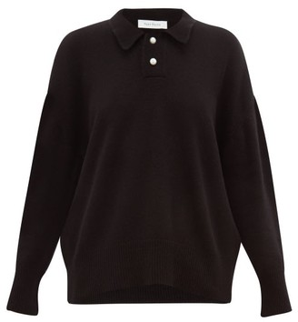 Roche Ryan Pearlescent-button Cashmere Sweater - Womens - Black