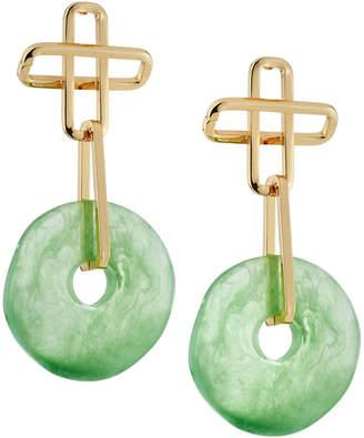 Dannijo Earhardt Resin Drop Earrings, Green