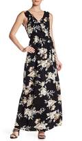 Minuet Floral Print Ruffle Trim Wrap Dress