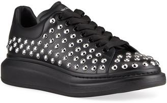 Alexander McQueen Men's Larry Oversized Studded Platform Sneakers
