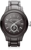 Karl Lagerfeld Chain 44.6 mm Gunmetal IP Stainless Steel Unisex Watch