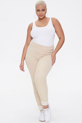 Forever 21 Plus Size Sweater-Knit Striped Joggers