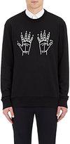Lanvin Men's 10th Anniversary Embroidered Sweatshirt-BLACK