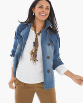 Chico's Modern Denim Trench Jacket
