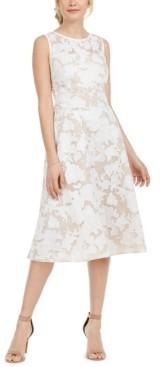 Jessica Howard Petite Floral Illusion Midi Dress