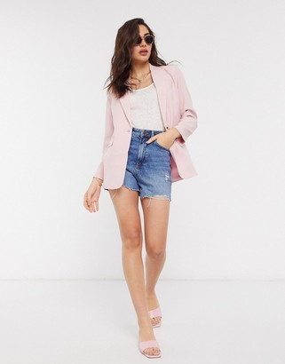 Y.A.S single breasted blazer in pink
