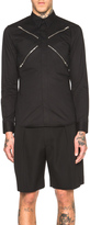 Givenchy Zipper Button Down Shirt