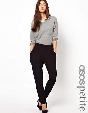 Asos Peg Pants In Jersey - Black