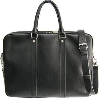 Louis Vuitton Noir Taiga Leather Porte-Documents Voyage PM