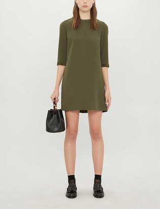 Claudie Pierlot Ribambelle scoop neck crepe mini dress