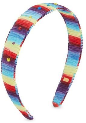 Bari Lynn Girl's Rainbow Multicolor Crystal Strain Headband
