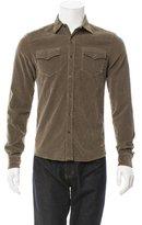 Tomas Maier Velvet Button-Up Shirt w/ Tags