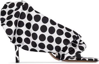 Alexandre Vauthier Penelope 110 polka dot sandals