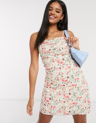 Fashion Union mini dress in vintage floral print