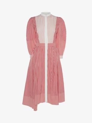 Alexander McQueen Patchwork Stripe Shirt Dress