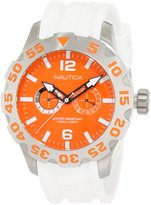 Nautica Men's Sport N16618G Silver Rubber Quartz Watch with Dial