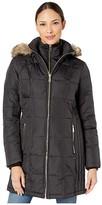 MICHAEL Michael Kors 3/4 Down with Bib M824452TZ (Black) Women's Coat