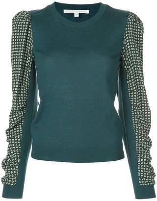 Veronica Beard contrasting sleeve jumper