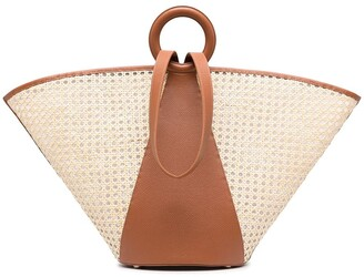 Cult Gaia Roksana large beach tote bag