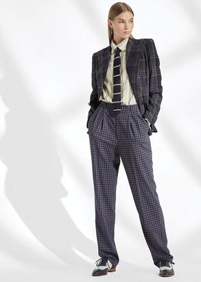 Ralph Lauren Andela Checked Wool Pant