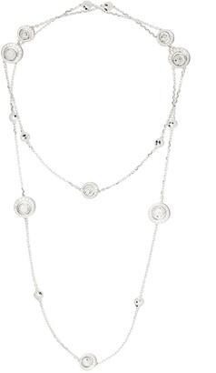 David Morris 18kt white gold diamond Rose Cut Forever Sautoir necklace