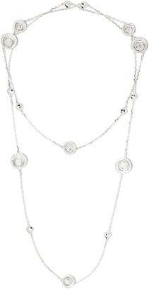 David Morris 18kt white gold diamond Rose Cut Forever Sautoir necklace
