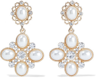 Shashi Empress 18-karat Gold-plated, Faux Pearl And Crystal Earrings