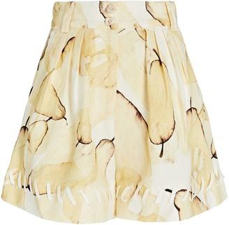 Aje Unlace Pear Linen Shorts