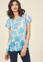 Brunch's Best Top in Tropical in XS - Short Sleeve A-line Waist by ModCloth