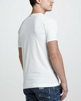 Dolce & Gabbana Logo-Plaque Tee, White
