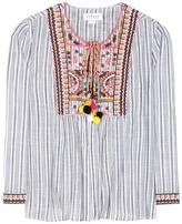 Velvet McKay embroidered cotton jacket