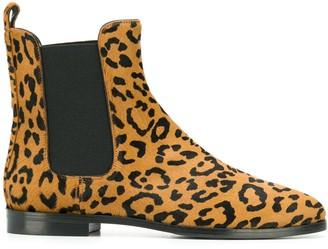 Unützer animal print ankle boots