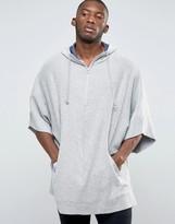Asos Loungewear Textured Cape With Half Zip