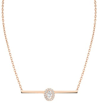 Messika Glam'Azone Diamond & 18K Rose Gold Pendant Necklace