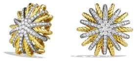 David Yurman Starburst Earrings With Diamonds In 18K Gold, 22Mm