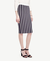 Ann Taylor Petite Striped Sweater Pencil Skirt