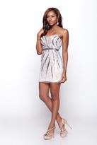 Milano Formals - Sparkling Beaded Cocktail Dress E2049