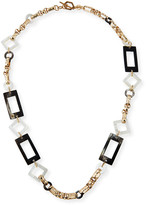 Mother of Pearl Akola Long Horn & Mother-of-Pearl Chain Necklace