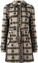 Giamba floral panelled coat