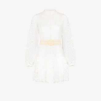 Zimmermann Super Eight Guipure Lace Mini Dress